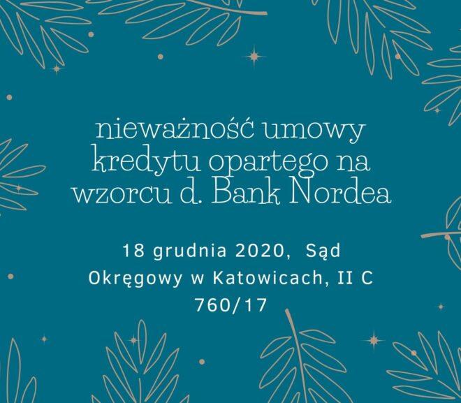 Nieważność kredytu d. Bank Nordea
