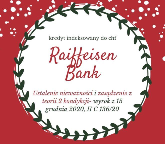 Wyrok SO w Katowicach w sprawie przeciwko Raiffeisen Bank International AG w Wiedniu
