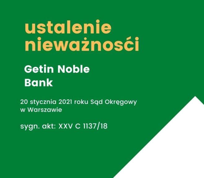 Wygrana z Getin Noble Bank (Warszawa)
